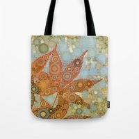 Perky Maple Leaf Abstrac… Tote Bag