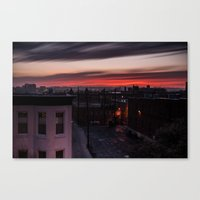Fire in the Sky V.2 Canvas Print