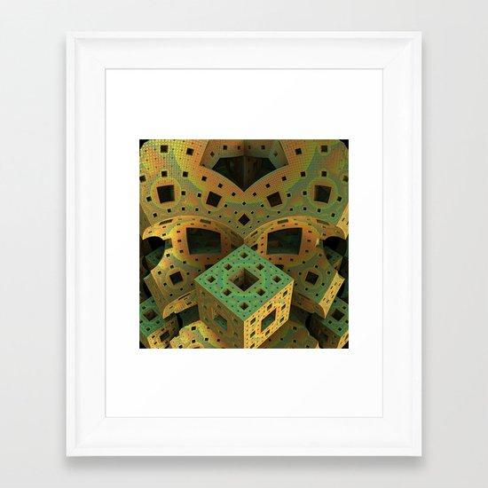 Puzzle Box Framed Art Print