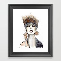Punk Fashion Illustratio… Framed Art Print