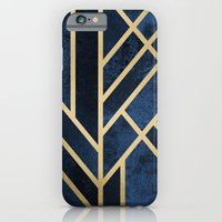 iPhone Cases featuring Art Deco Midnight by Elisabeth Fredriksson