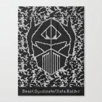 Data Raider Canvas Print