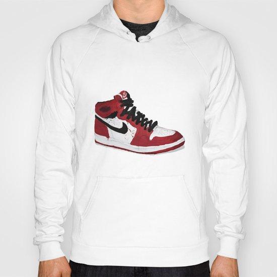 Nike Air Force 1 - Retro - Red & Black & White Hoody