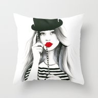 Throw Pillow featuring Sentimental Red by Anna Hammer