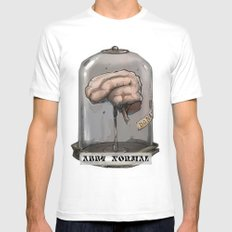 Abby Normal Mens Fitted Tee White SMALL