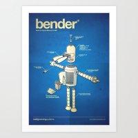 Bender Art Print
