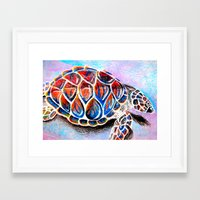 fire shell. Framed Art Print