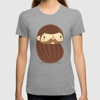B Is For Beard Womens Fitted Tee Tri-Grey SMALL