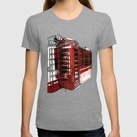 Phone Box Womens Fitted Tee Tri-Grey SMALL
