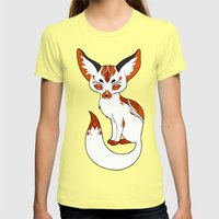 Mysterious Fox Womens Fitted Tee Lemon SMALL