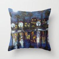 Colonial Lake, Charlesto… Throw Pillow