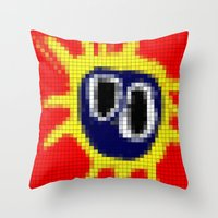 Primal Scream - Screamad… Throw Pillow