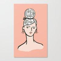 fille portant cheveux Canvas Print