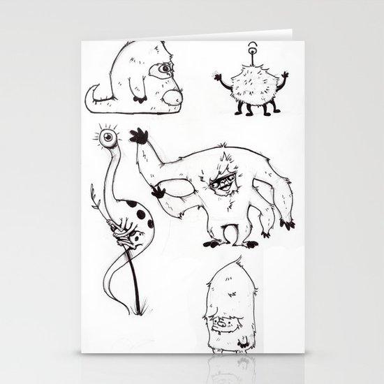 Monster Mash Stationery Card