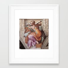 The Libyan Sybil Sistine Chapel Ceiling by Michelangelo Framed Art Print