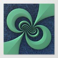 Green on Blue Canvas Print