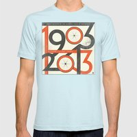 100 Years Of The Tour De… Mens Fitted Tee Light Blue SMALL
