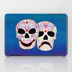Comedy-Tragedy Colorful Sugar Skulls iPad Case