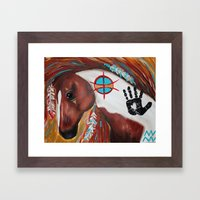 Indian paint horse Framed Art Print