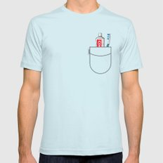 Pockets - Clean Freak - Mens Fitted Tee Light Blue SMALL