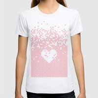 Valentine's Gift. X Love Womens Fitted Tee Ash Grey SMALL