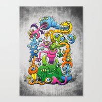 Monstrously Messy Canvas Print