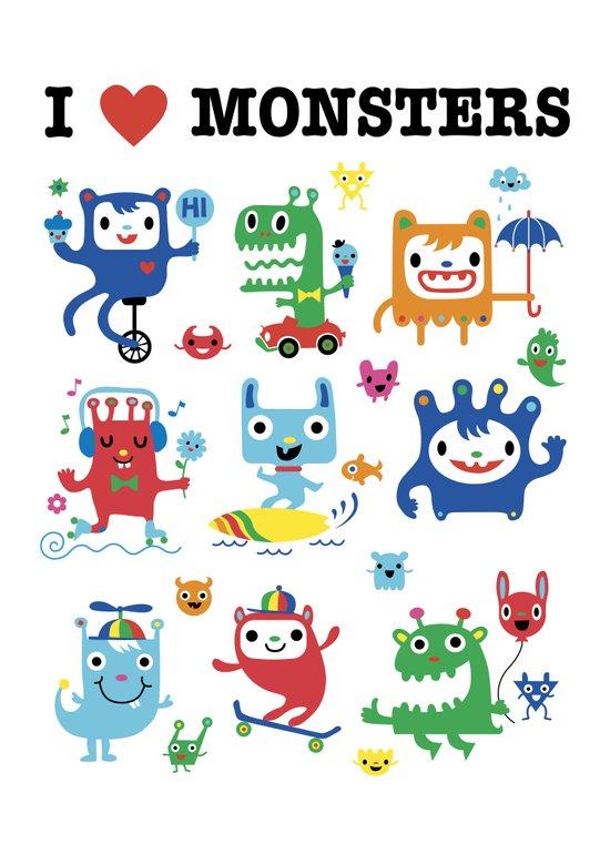 Monster Love Art Print