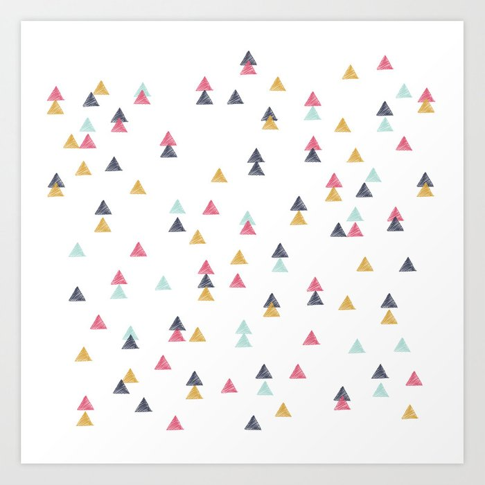 Sunday's Society6 | Colorful random triangle pattern