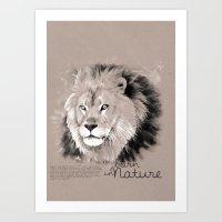 Lion (BornInNature) Art Print