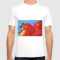 Strawberries... Mens Fitted Tee White SMALL