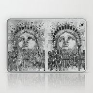 New York City Black And … Laptop & iPad Skin