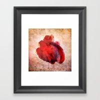 A Heart Framed Art Print