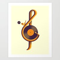 Retro Sound Art Print