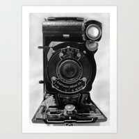 Vintage Kodak Camera Art Print