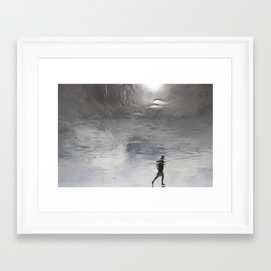 at the edge of a dream Framed Art Print
