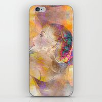 Profile Woman And Flower… iPhone & iPod Skin