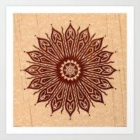 Ozorahmi Wood Mandala Art Print