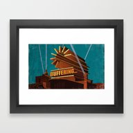 Buffering Framed Art Print