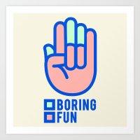 BORING N0.1 Art Print