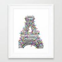 Paris Eiffel Tower Holid… Framed Art Print