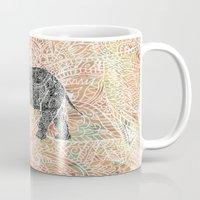 Tribal Paisley Elephant Colorful Henna Floral Pattern Mug