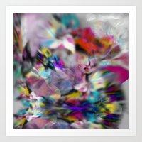 Crystal print Art Print