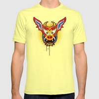 Yare Devil Mask Mens Fitted Tee Lemon SMALL