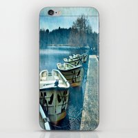 Boats in blue iPhone & iPod Skin