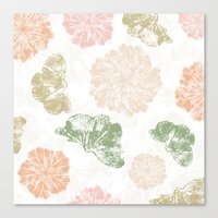 Ginkgo Floral Canvas Print