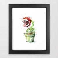 Piranha Plant Art Framed Art Print