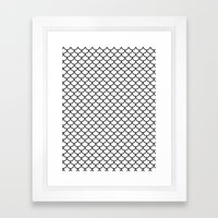 Simple Scales Framed Art Print