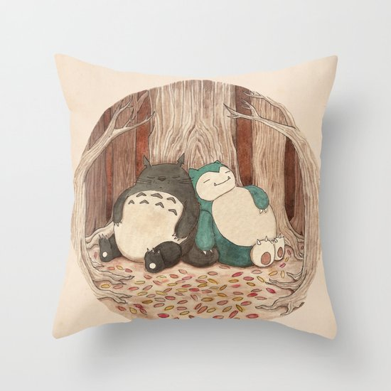 Best Friends Forevah Throw Pillow