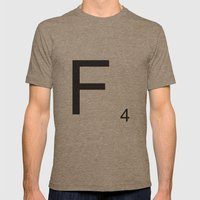 Scrabble F Mens Fitted Tee Tri-Coffee SMALL