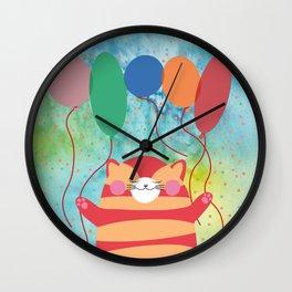 Wall Clock - Red Cat - Maria Biro